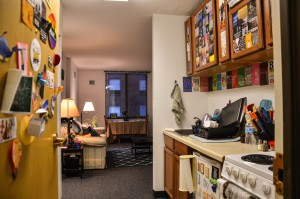 Mortensen Hall apartment decorated to feel like home