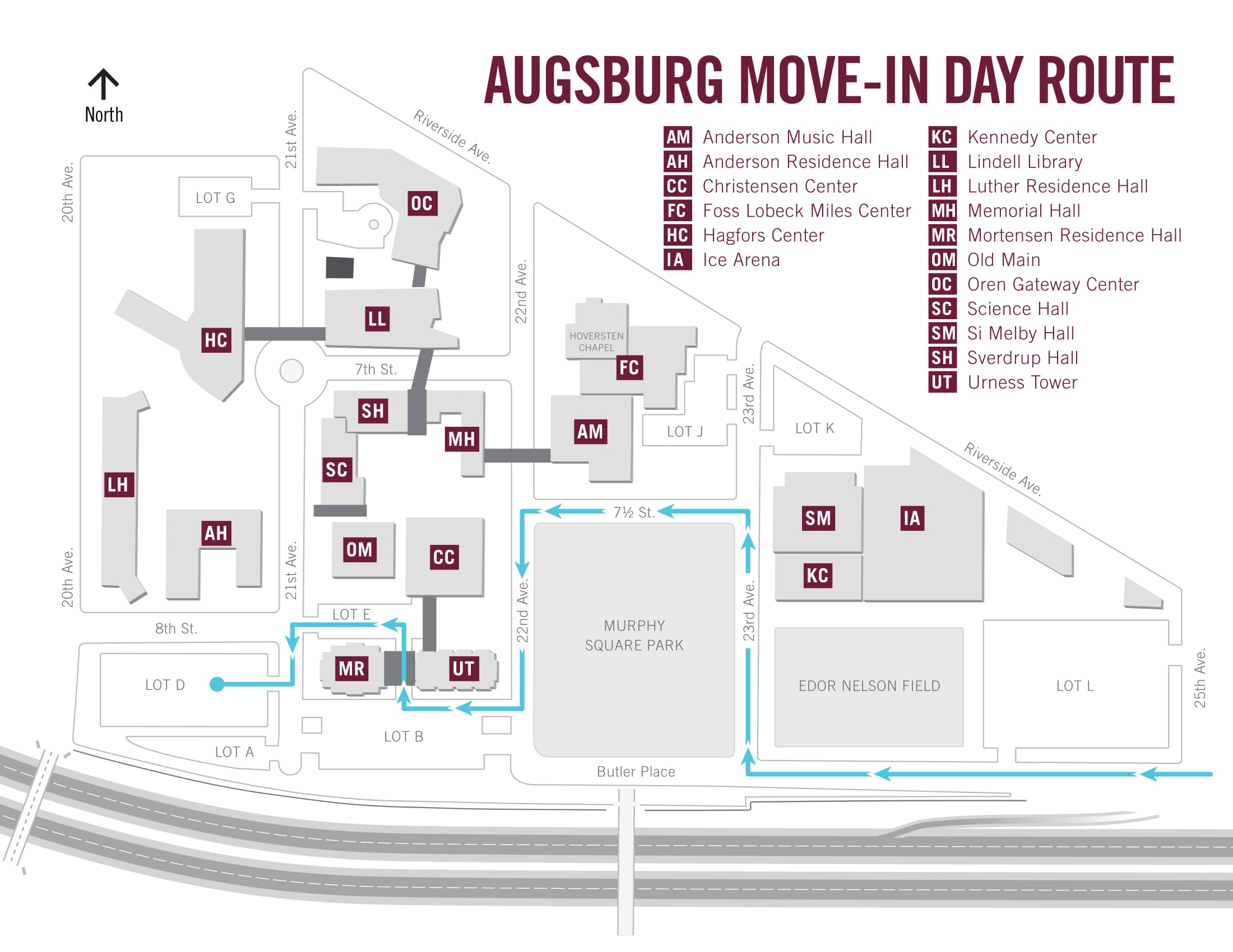 MoveIn Information Residence Life Augsburg University