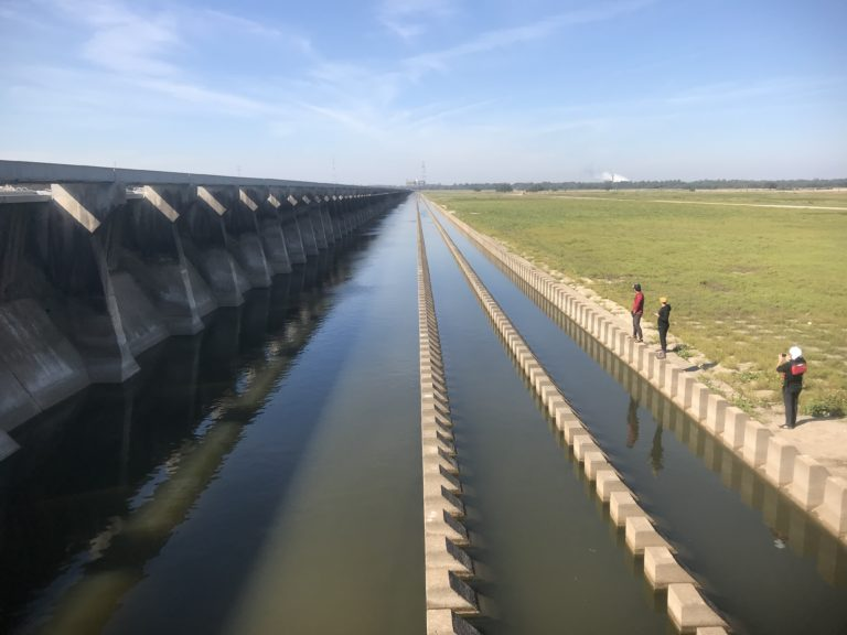 Bonnet Carré spillway; an acknowledgement of the need to give the Mississippi some breathing room, but always on terms dictated by New Orleans and local Petrochemical interests. (Joe Underhill Field Note)
