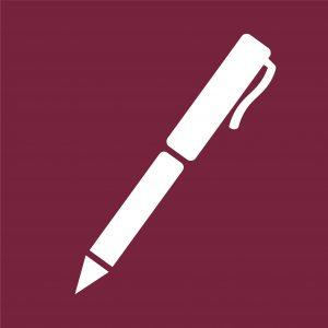 Hub writing icon_a pen