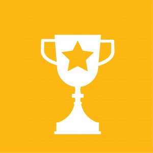 Manage and Lead Change icon_an award cup with a star in the middle