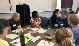 Innovation Coach Michele Crowder visits with Partner congregations St. St Timothy Lutheran Church, ELCA, Saint Paul MN and Jacob's Well, Minneapolis