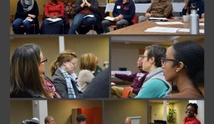 A collage of photos of the Coach panel event at St. Timothy Lutheran Church, Saint Paul