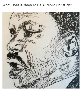 Image of the drawing of MLK