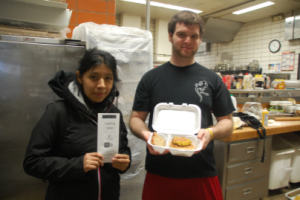 CK student leaders deliver senior meals with nutritional information