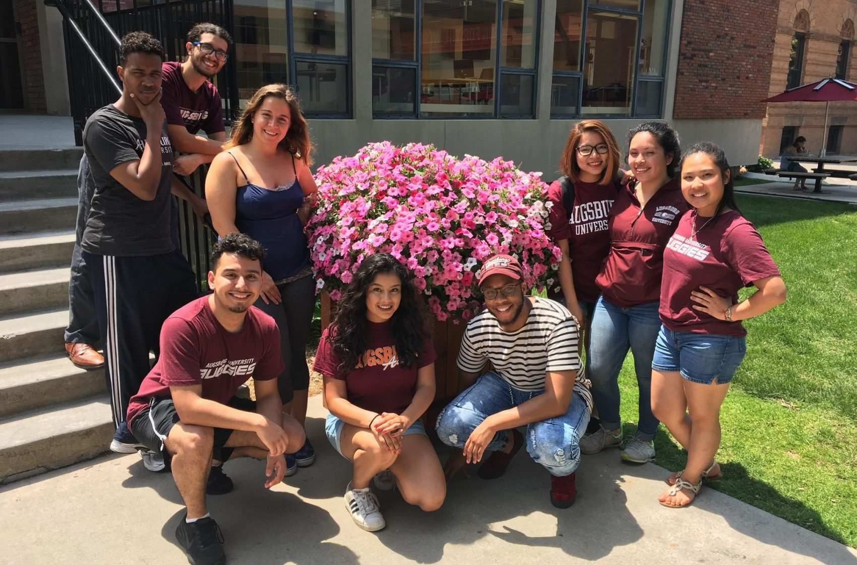 Student leaders who welcomed incoming students through Auggies Engage.