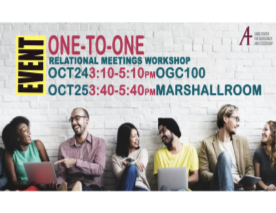 Poster for One-to-One Relational meetings Workshop