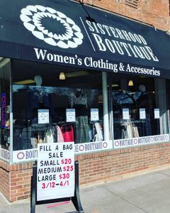 Sisterhood Boutique storefront