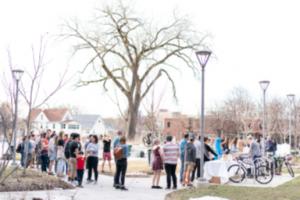 event in community garden