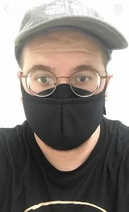 Photo of Nick with mask on