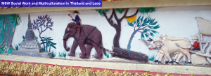 An artistic drawing of an elephant from Laos
