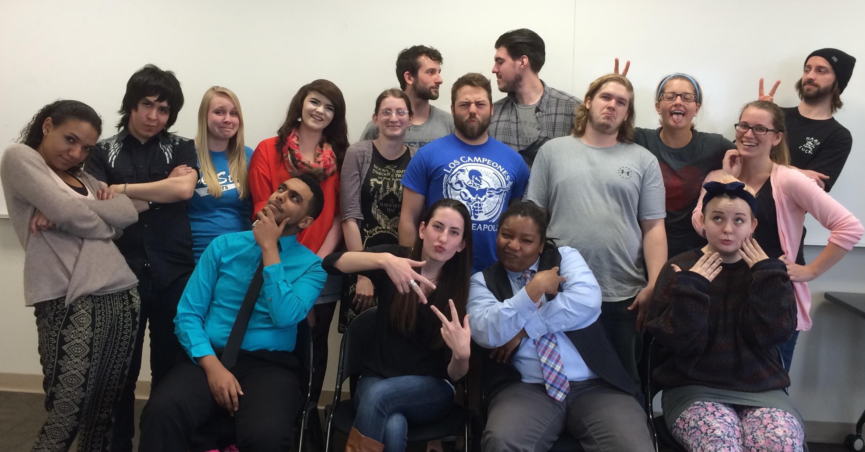 Sociology seniors strike a pose on the last day of Senior Seminar.