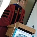 Professor Lars Christiansen speaking at the awards ceremony.