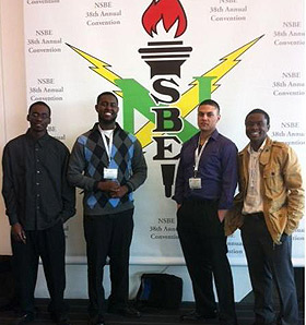 students at nsbe conference