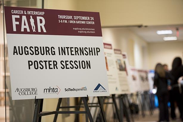 Augsburg internship poster session poster