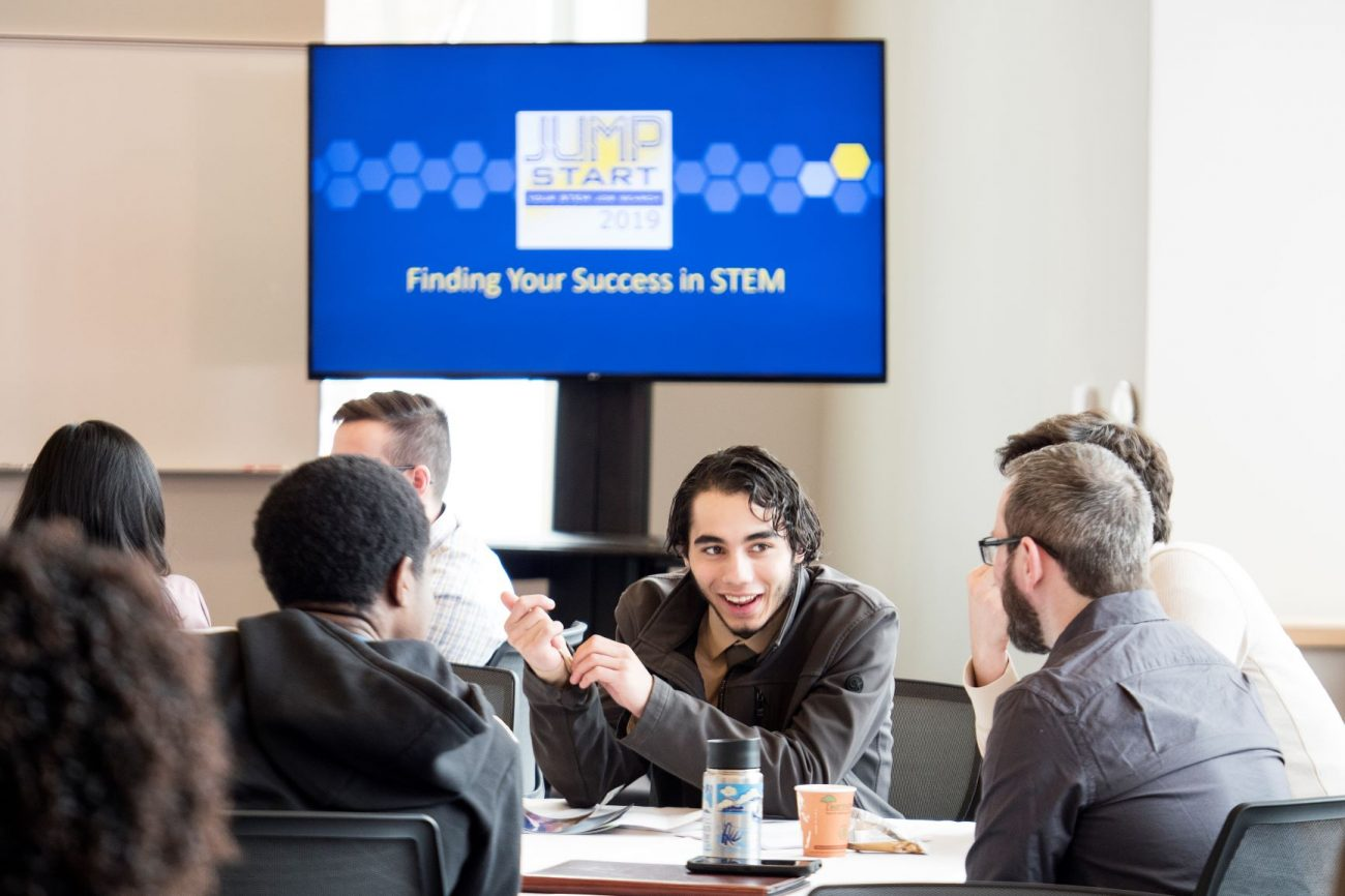 A STEM student attends Jump Start Your STEM Job Search
