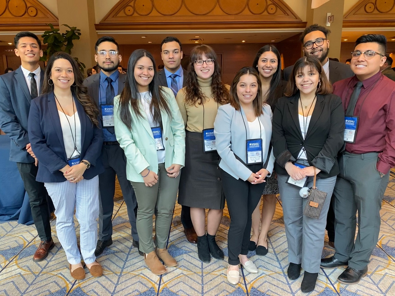 Augsburg students at the 2020 USHLI conference.