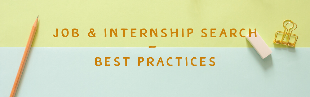 best practices job and internship searches