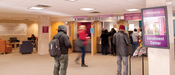Enrollment Center, Sverdrup Hall
