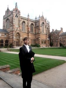 Brian Krohn, winner of Rhodes Fellowship