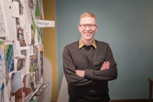 Chris Houltberg in the design studio