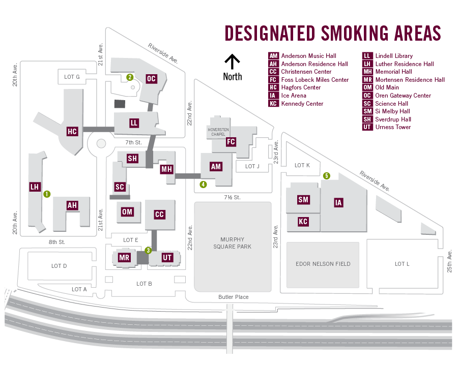 Campus Map Smoking Areas