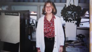Kuross in her early work setting in the Science building