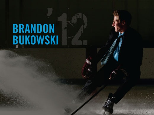 Brandon Bukowski in the rink