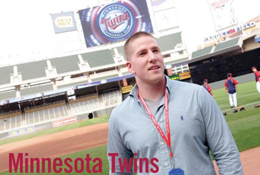 Dan Brandt on baseball field