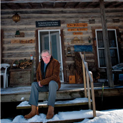 Jim Pederson at his cabin