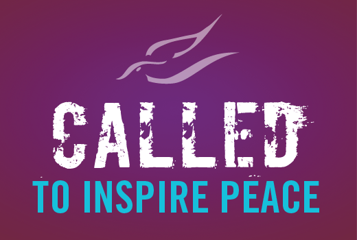 "Nobel Peace Prize Forum icon and the words ""Called to inspire peace"""