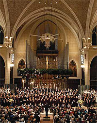 Augsburg Choir performs at Advent Vespers