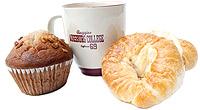 Pastries and an Augsburg coffee mug