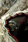 Close-up photo of wolf skin