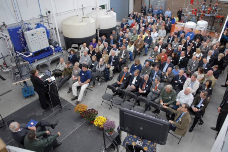 Crowd gathers at Ever Cat Fuels business venue