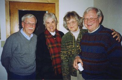 Rod Erickson, Barbara (Olson) Dettle, Grace (Kemmer) Sulerud, Ralph Sulerud