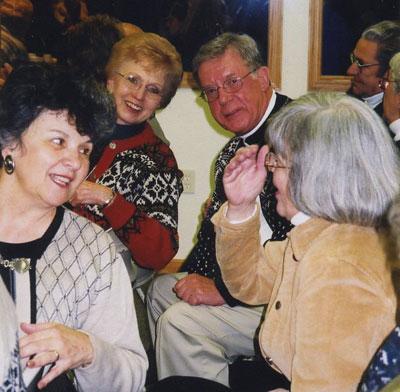 Joanne (Joski) Evavold, Elaine Pederson, Jim Pederson, Lori Christianson