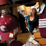 Augsburg bookstore and student