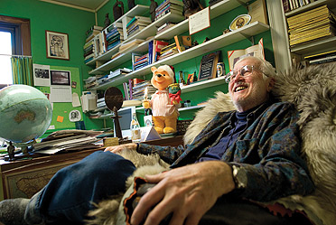 """Don """"Gus"""" Gustafson sits in his office"""