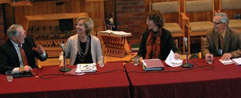 Panelists speak at the Sabo Symposium