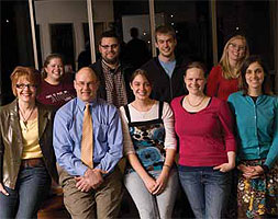 Mark Tranvik poses with Lilly Scholars