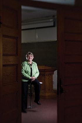 Joyce Miller in Old Main