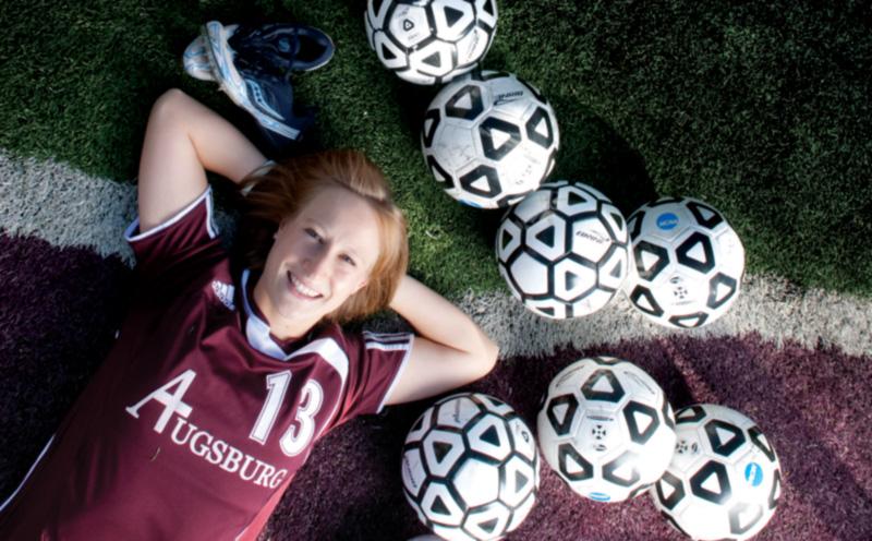 Whitney Holman on the soccer field