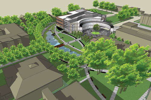 rendering of Center for Science, Business, and Religion